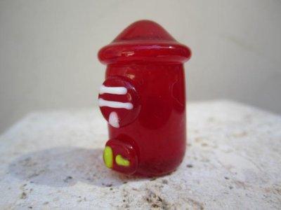 画像2: 懐かしの街並み 郵便ポスト レトロ ガラス細工 雑貨 置物