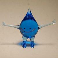 水の精 ブルー ガラス細工 雑貨 置物
