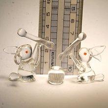 他の写真1: ウサギのお餅つきセット(クリア) 干支 ガラス細工 雑貨 置物