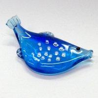 ガラスの箸置き<5個1,500円セット対応>フグ ガラス細工 雑貨 置物