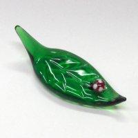 ガラスの箸置き<5個1,500円セット対応>木の葉とてんとう虫 ガラス細工 雑貨 置物