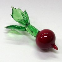 ガラスの箸置き<5個1,500円セット対応>赤カブ ガラス細工 雑貨 置物