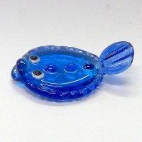 ガラスの箸置き<5個1,500円セット対応>ヒラメ ガラス細工 雑貨 置物