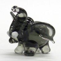 まるゾウ ブラック ガラス細工 雑貨 置物