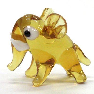 画像1: アフリカゾウ ガラス細工 雑貨 置物