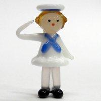セーラー人形 女の子 ガラス細工 雑貨 置物