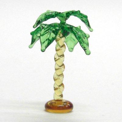 画像1: ねじりヤシの木 花 ガラス細工 雑貨 置物