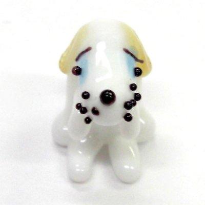 画像1: ビーグル L 犬 ガラス細工 雑貨 置物