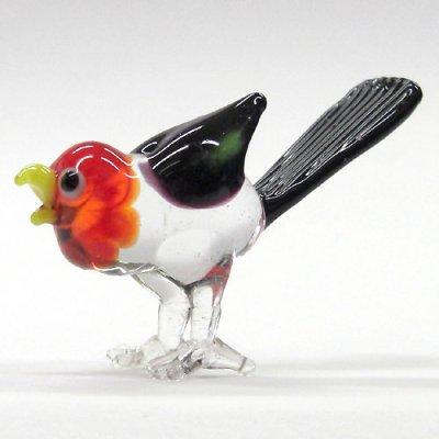 画像1: カッコウ 鳥 ガラス細工 雑貨 置物