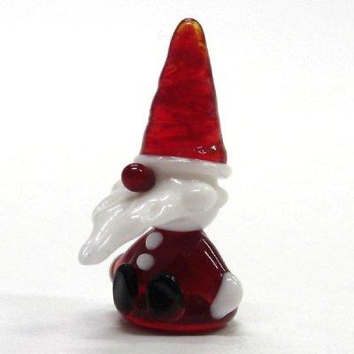 画像1: お座りサンタさん S クリスマス ガラス細工 雑貨 置物