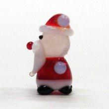他の写真1: ミニミニサンタさん レッド クリスマス ガラス細工 雑貨 置物