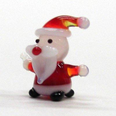 画像1: ミニミニサンタさん レッド クリスマス ガラス細工 雑貨 置物