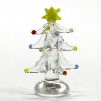 クリアイルミネーションツリー 3.7cm クリスマス ガラス細工 雑貨 置物
