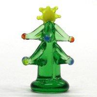 ミニイルミネーションツリー 2.3cm クリスマス ガラス細工 雑貨 置物