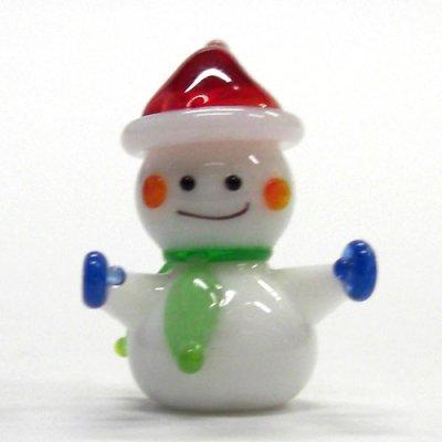 画像1: 寒がりスノーマン クリスマス ガラス細工 雑貨 置物