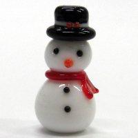 お洒落雪だるま クリスマス ガラス細工 雑貨 置物