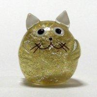 金箔ねこ 縁起物 ガラス細工 雑貨 置物