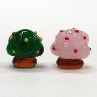 ひな飾り(雛飾り) 桜・橘 S ひなまつり ガラス細工 雑貨 置物