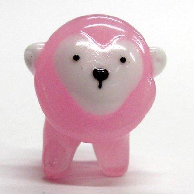 画像1: サル ピンク 干支 ガラス細工 雑貨 置物