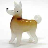 日本犬 L ガラス細工 雑貨 置物