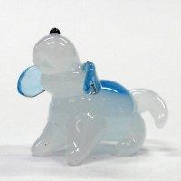 ビーグル犬 伏せ ガラス細工 雑貨 置物