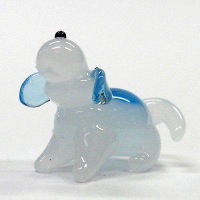 画像1: ビーグル犬 伏せ ガラス細工 雑貨 置物