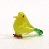 クリアバード イエロー 鳥 ガラス細工 雑貨 置物