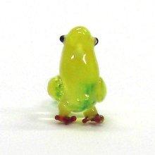 他の写真1: クリアバード イエロー 鳥 ガラス細工 雑貨 置物
