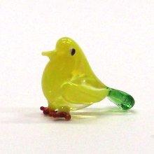 他の写真3: クリアバード イエロー 鳥 ガラス細工 雑貨 置物
