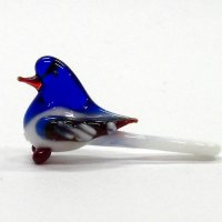 春に人気 オナガ S ブルー 鳥 ガラス細工 雑貨 置物