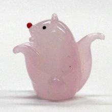 他の写真2: 風水ねずみ ピンク L 干支 ガラス細工 雑貨 置物