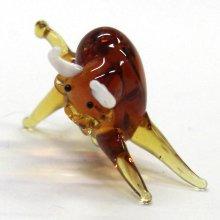 他の写真2: 野牛 S ブラウン 干支 ガラス細工 雑貨 置物