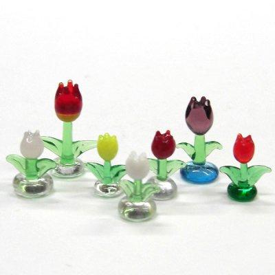 画像2: チューリップ S ホワイト 花 ガラス細工 雑貨 置物