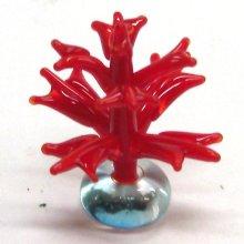 他の写真1: サンゴ 珊瑚(立体) レッド ガラス細工 雑貨 置物