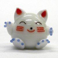 福招き猫 L ガラス細工 雑貨 置物