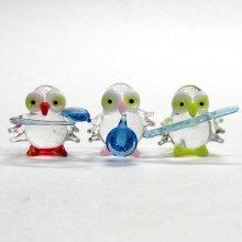 他の写真2: 五ふくろう楽団(五福朗・五不苦労) ガラス細工 雑貨 置物