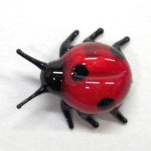 他の写真3: てんとうむし 薄い赤 昆虫 ガラス細工 雑貨 置物