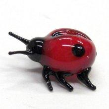 他の写真1: てんとうむし 薄い赤 昆虫 ガラス細工 雑貨 置物