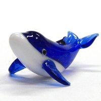 海の仲間たちのガラス細工 くじら(鯨) ザトウクジラ ガラス細工 雑貨 置物