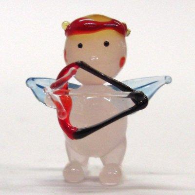 画像1: キューピッド 結婚祝い ガラス細工 雑貨 置物