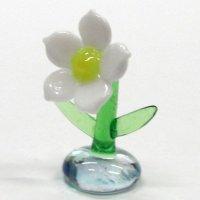 水仙 花 ガラス細工 雑貨 置物