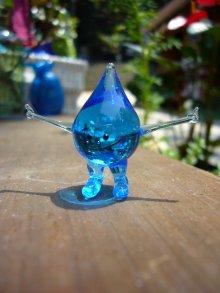 他の写真1: 水の精 ブルー ガラス細工 雑貨 置物
