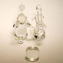 他の写真2: ウサギのお餅つきセット(クリア) 干支 ガラス細工 雑貨 置物