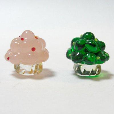 画像1: ひな飾り(雛飾り) 桜・橘 L ひなまつり ガラス細工 雑貨 置物
