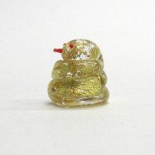 他の写真1: お岩屋 金箔巳 江の島の守り神 ガラス細工 雑貨 置物