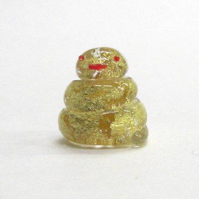 画像1: お岩屋 金箔巳 江の島の守り神 ガラス細工 雑貨 置物