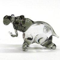 カバ ガラス細工 雑貨 置物