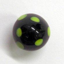 他の写真1: キノコ L ブラック ガラス細工 雑貨 置物