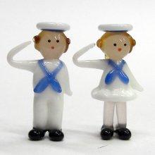 他の写真2: セーラー人形 ペア ガラス細工 雑貨 置物