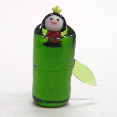 画像1: 竹取物語かぐや姫 昔話 ガラス細工 雑貨 置物
